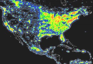 United States light pollution