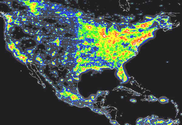 Milky Way Galaxy Southwest New Mexico Silver City Casitas - Us stargazing map