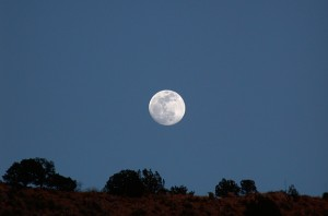 full moon over Casitas de Gila Guesthouses