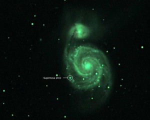 Whirlpool Galaxy after June 2 Supernova