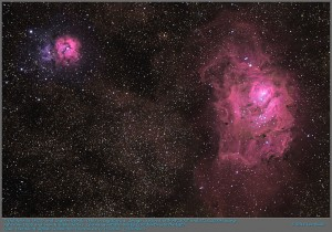 Trifid and Lagoon Nebulas