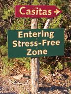 stress-free zone sign