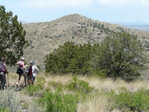 hiking on Casitas de Gila land