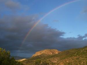 rainbow over Turtle Rock