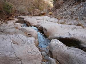 Potholes in bedrock