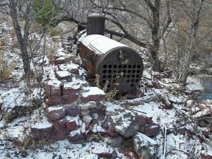 steam boiler at Cooney Mine