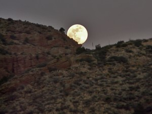 full moon in southwest new mexico