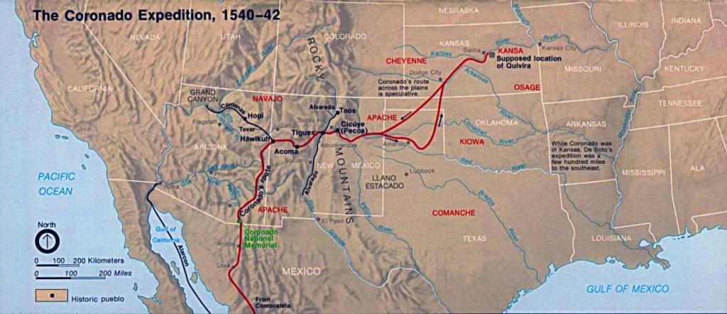 Coronado Expedition Map