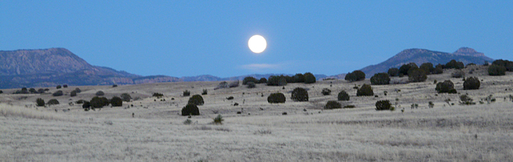 moon over the Mogollon Mountains