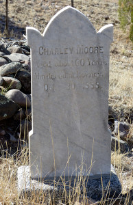 Old West tombstone
