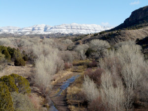 winter on the Gila in New Mexico