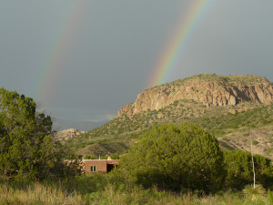 summer rainbow southwest new mexico