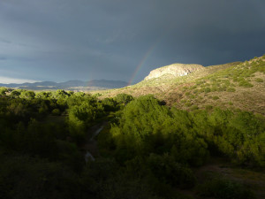 monsoon rain scenery new mexico