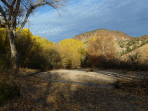fall along Bear Creek at Casitas de Gila