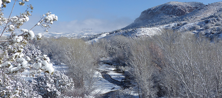 winter snow in the southwest