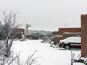 snow covered casitas