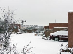 snow covered casitas