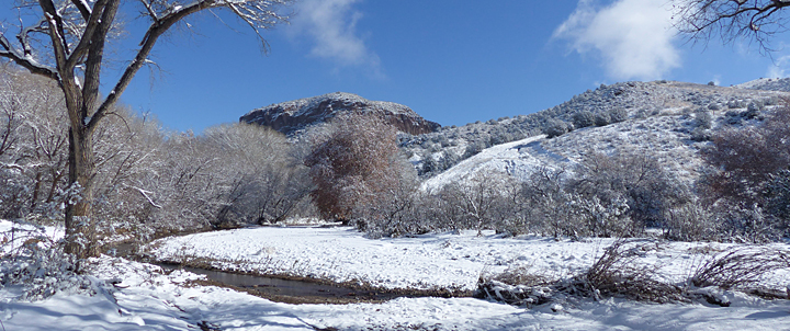 melting snow in southwest new mexico