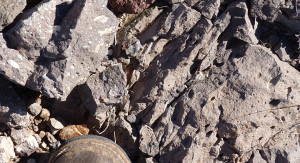 andesite flow rock