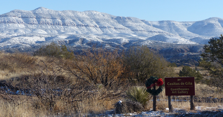 gila wilderness with snow