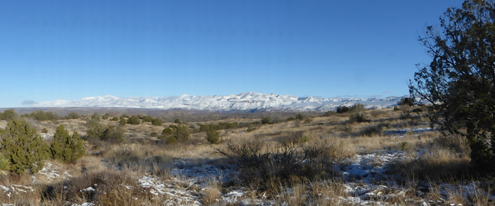 snow on the Gila Mountains