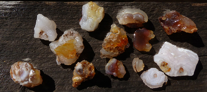 fire agate and chalcedony