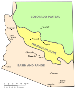 physiographic regions of AZ
