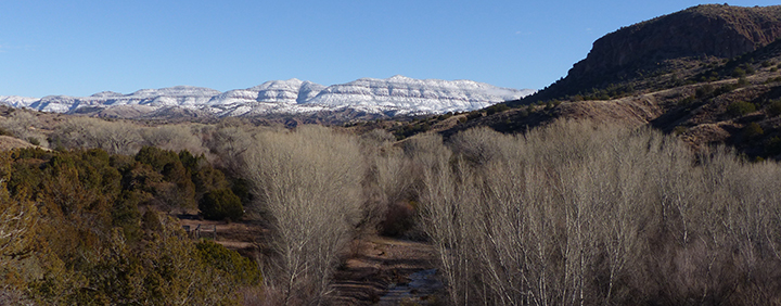snow-covered Gila Wilderness