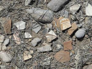 Mogollon Culture pottery shards