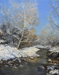new mexico snow oil painting