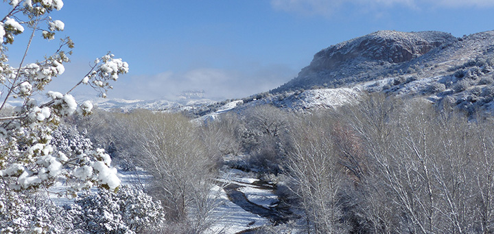 winter snow in the Gila