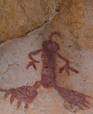 pictograph seen while hiking the Gila