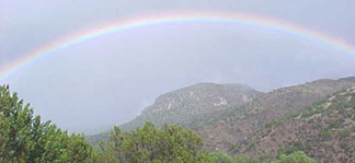 Rainbow over Turtle Rock